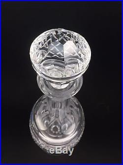 Waterford Crystal Castletown Decanter Rare Tall Cut Discontinued Vtg Spirit Bar