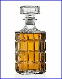 Whiskey Decanter Crystal Bottle Wine Liquor Vintage Glass Stopper Bar Scotch New